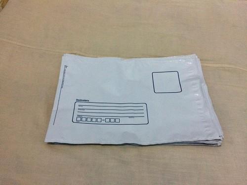 envelope plástico formulário contínuo