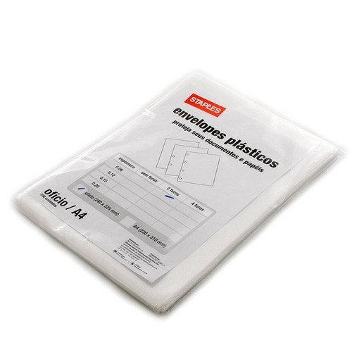 envelope plástico meio ofício